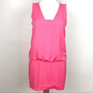 Zara Small Pink Sleeveless Drop Waist Mini Dress